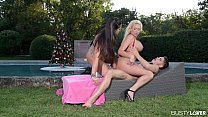 Top-heavy_lesbians_Summer_Brielle_&_Alison_Tyler_ride_that_Xmas_present_'til_they_cum Thumbnail