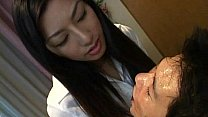 Licking gave slave a face-full of mistress' saliva's Thumb