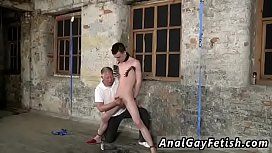 with his gentle testicles tugged and his cock stroked