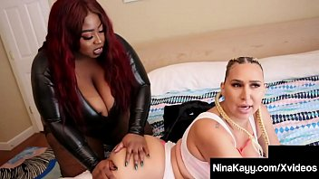 Watch Curvy Nymphomaniac Nina Kayy takes a hard Strap-on fucking By thick ebony lady Jalisa Elite slams Nina's plump pussy until they both cum! Full Video & Nina Kayy Live @ NinaKayy.com! preview