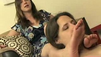 Sexy Lesbian Foot Worship Mistress Claire and Lena Ramon