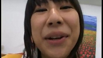 Adorable asian teen gets dirty