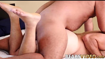 Daddy ass fucked hard by chubby cub