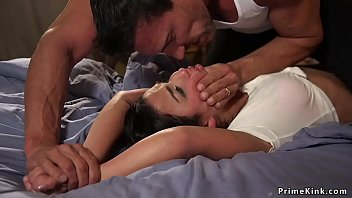 Marco Banderas tracked and caught hot little brunette thief and then tied her tight and rough anal banged with huge dick