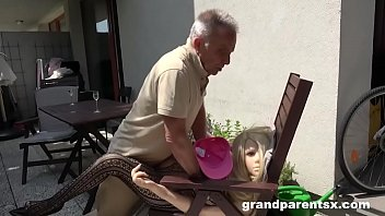 Bizzare Old Guy Fucking a Plastic Doll