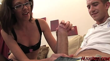 Cougar Katie takes a Mouthful of Big White Cock and Juicy Young Jizz