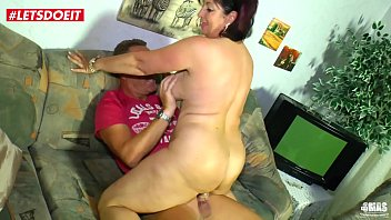 RedHead Milf Gets Rough Sex on the Couch - LETSDOEIT.COM