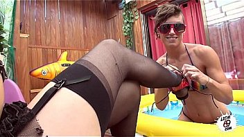 LECHE 69 Spanish Lesbians In A Small Pool, Nora