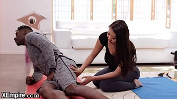 Asian Yoga Teacher Takes Big Black Cock