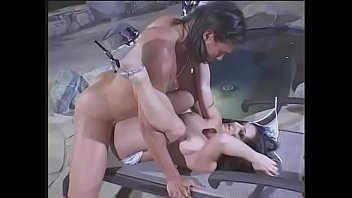 Kinky bitch Ariana Jollee loves to be anal fucked near by the pool