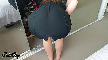 Sexy office slut gets her panties filled with a big load of jiz as she gets ready for work - RubiRay
