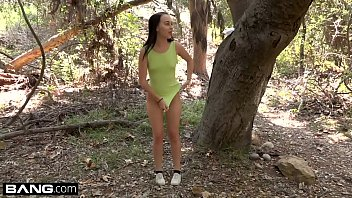 Bambi Black goes hiking for the first time and rides dick in the woods!