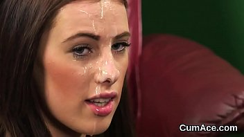 Have jizz on womans face has touched