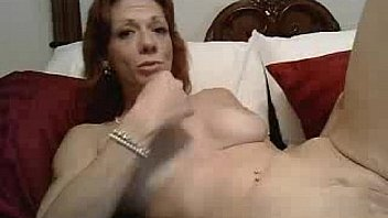 Gagging Crimson Rose deep throating redhead gagging
