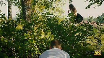 OLD4K. Teen babe loves old and young experience in the forest