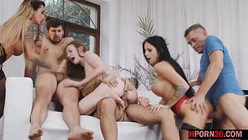 group sex with three college girl and her big boobs