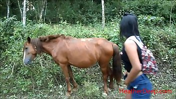 (Onlyfans.com/heatherdeep) pissing thai teen and horse gets a huge boner and is about to attack