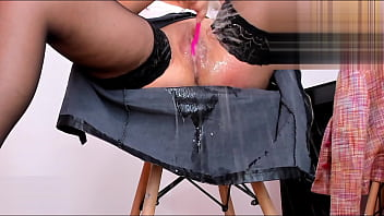 I Am Having Orgasms And My Pussy Ejaculates On My Skirt  