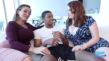 Lucky student Lil D won't be graduating soon if he keeps banging his busty tutors Maggie Green & Aubrey Black! They have to stop milking his dick dry of cum! Full Video @ MaggieGreenLive.com!