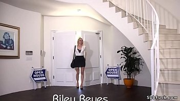 Desperate blonde Riley Reyes lets Tommy Pistol tie her up and use her as a bargaining chip for home buyers who double penetration fuck her in bondage