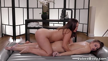 Watch Two busty chicks fondling at massage parlor preview