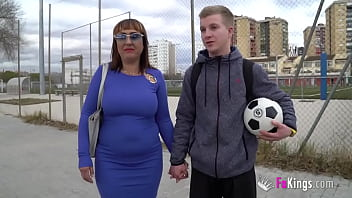 AMAZING MILF brings her 21 years old son's best friend to a porno shoot