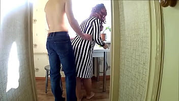 affectionate mom bent over so her son could fuck her in the ass.