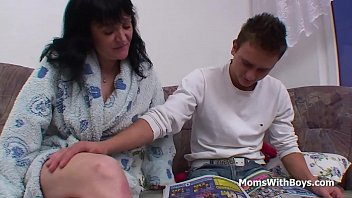 Big Boobed Mature Mom Fucking her Stepson's Cock
