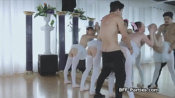 Horny instructor was spying on the sexy ballerinas but he got busted