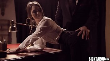 Bad secretary banged by a boss in his office