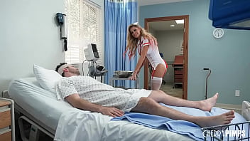 A hot Milf nurse with Big Boobs who takes care of her patient James Deen! His cock swells as she cleans him and her lips have the hottest remedy, a sloppy wet blowjob