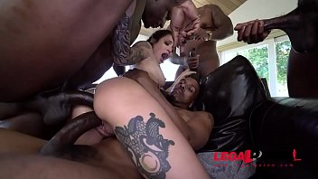 You have to see this! Luna Lovely with 4 HUGE cocks taking it like the awesome slut she is AA048
