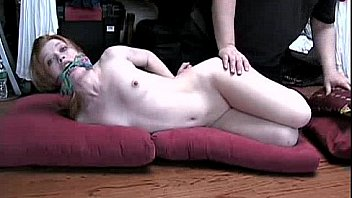 Bound slut stripped naked and ready for cock