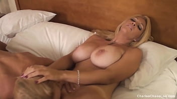 MILFs Munching Muffs! Cougars Charlee Chase & Brooke Tyler bathe their tongues & fingers in pussy juice until they cum in this mature lesbian clip! Full Video & Charlee Live @ CharleeChaseLive.com!