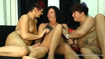Mature amateur swingers have fun together during a sex party 1st part