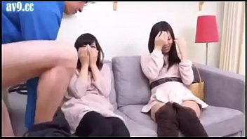 Guy convinces two chinese girls to suck his dick! SHE-034