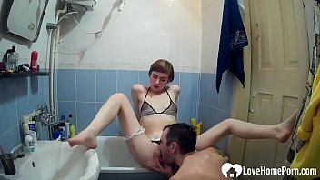 Horny sister getting hardcore pussy drilled in the bathroom Thumbnail
