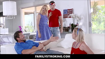 Zoe Parker Fourth of July Family Strokes