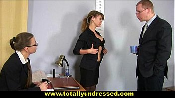 Nude interview fuck in office