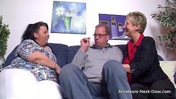 Older couple have a threesome with a fat brunette