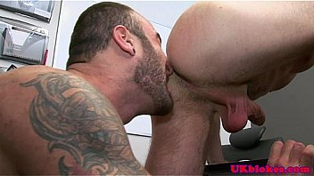 British jock bender loves fun with two cocks
