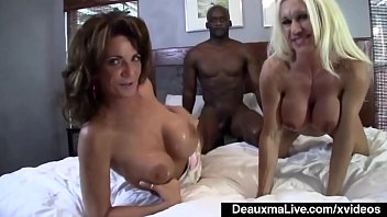 Hot Massive Boobed MILF Deauxma and Ashlee Chambers Interracial!