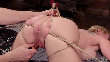 Hot gagged big tits Milf gets nipples clamped and stretched then pussy tormented