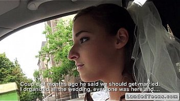 Rejected bride blowjob in car in public