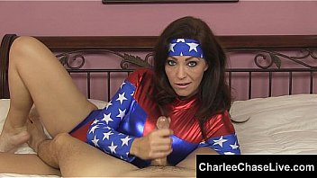 Big Tit Super Hero slut Charlee Chase is battling blue balls by giving hard cocks a helping hand. She won't stop until she drains all the cum from your cock! Exclusive vid from CharleeChaseLive.com! Thumbnail