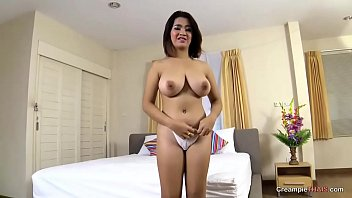 Creampie deep for Asian big tits