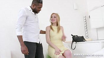 Horny Blonde Pornstar Rebecca Black, gags, deepthroats, is ass fucked & DP'd By 4 Big Black Cocks in this Cum filled Chocolate & Vanilla Interracial Gang Bang! Full Flick & 100's More at Private.com!
