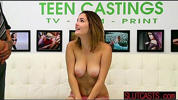 Teen hottie made to strip and convinced to fuck