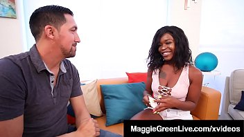 Curvy_Wife_Maggie_Green_catches_husband_getting_his_hard_cock_sucked_by_Ebony_baby_sitter_Harmonie_Marquis_but_ends_up_joining_in_&_getting_fucked!_Full_Video_@_Maggie_Live_@_MaggieGreenLive.com! Thumbnail