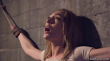 Blind date goes wrong for brunette beauty Lily LaBeau who finds herslef in dark dungeon and rope bondage then master Xander Corvus anal fucks her hard
